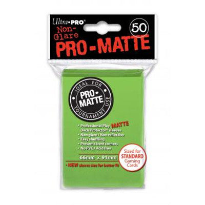 Ultra Pro: Pro-Matte Standard Card 66mm x 91mm Sleeves, 50ct Lime Green-LVLUP GAMES