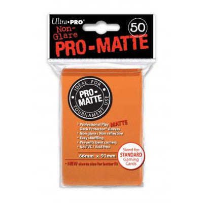 Ultra Pro: Pro-Matte Standard Card 66mm x 91mm Sleeves, 50ct Orange-LVLUP GAMES