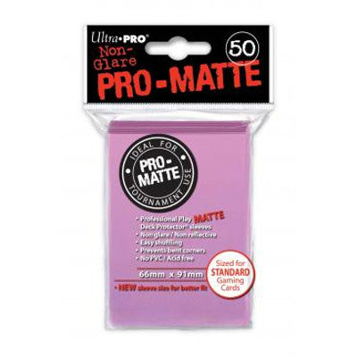 Ultra Pro: Pro-Matte Standard Card 66mm x 91mm Sleeves, 50ct Pink-LVLUP GAMES