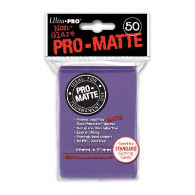 Ultra Pro: Pro-Matte Standard Card 66mm x 91mm Sleeves, 50ct Purple-LVLUP GAMES