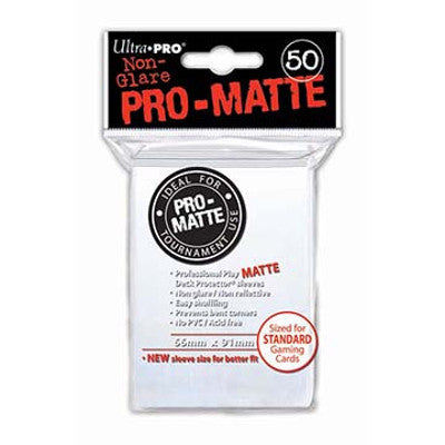 Ultra Pro: Pro-Matte Standard Card 66mm x 91mm Sleeves, 50ct White-LVLUP GAMES