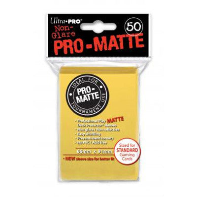 Ultra Pro: Pro-Matte Standard Card 66mm x 91mm Sleeves, 50ct Yellow-LVLUP GAMES