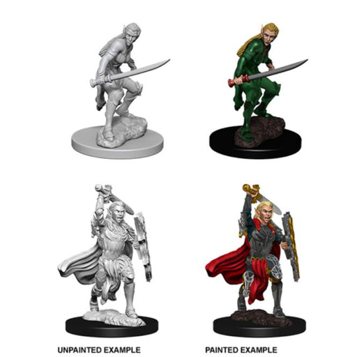 D&D Nolzur's Marvelous Miniatures:  Elf Female Fighter-LVLUP GAMES