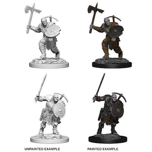 D&D Nolzur's Marvelous Miniatures:  Earth Genasi Male Fighter-LVLUP GAMES
