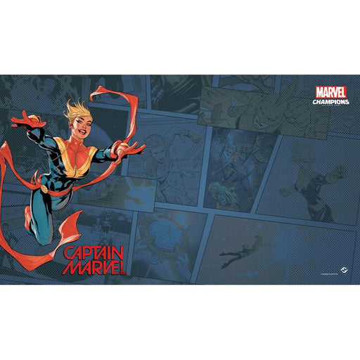 Marvel Champions LCG: Captain Marvel Game Mat-LVLUP GAMES