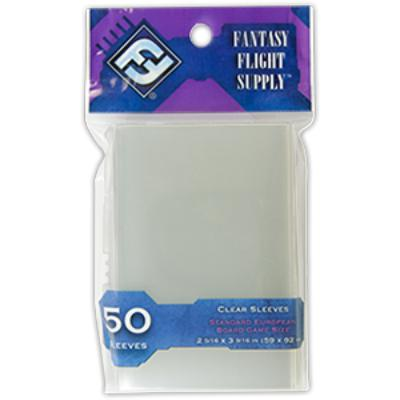 Fantasy Flight Supply: Standard European Card Sleeves, 50ct Clear-LVLUP GAMES