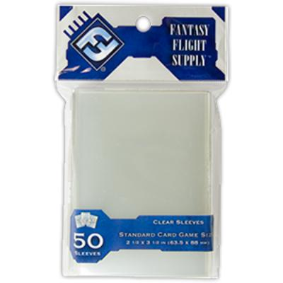 Fantasy Flight Supply: Standard Card Sleeves, 50ct Clear-LVLUP GAMES
