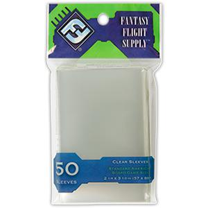 Fantasy Flight Supply: Standard American Card Sleeves, Clear 50 Ct-LVLUP GAMES