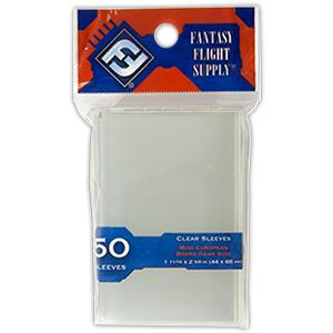 Fantasy Flight Supply: Mini European Sleeves, 50ct Clear-LVLUP GAMES