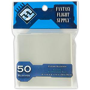 Fantasy Flight Supply: Square Sleeves, 50ct Clear-LVLUP GAMES