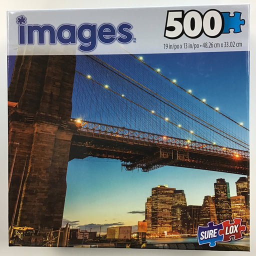 Images Assorted Puzzles, 500 Pieces-Brooklyn Bridge-LVLUP GAMES