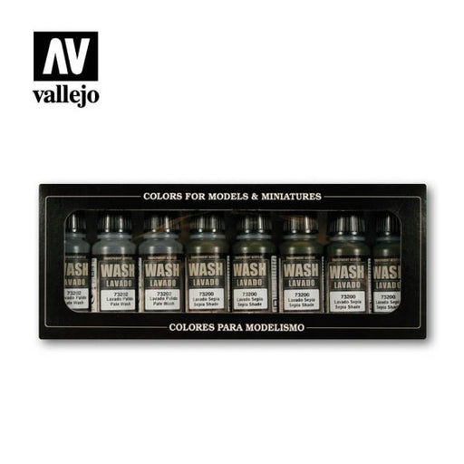 Vallejo: Game Color - Washes, Set Of 8
