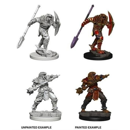 D&D Nolzur's Marvelous Miniatures:  Dragonborn Male Fighter with Spear-LVLUP GAMES