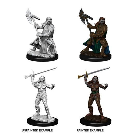 D&D Nolzur's Marvelous Miniatures:  Half-Orc Female Fighter-LVLUP GAMES