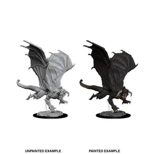 D&D Nolzur's Marvelous Miniatures: Young Black Dragon-LVLUP GAMES