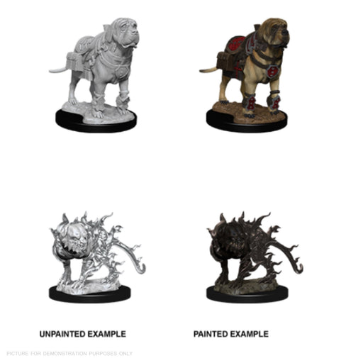 D&D Nolzur's Marvelous Miniatures:  Mastif And Shadow Mastif-LVLUP GAMES