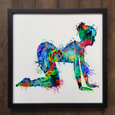 Yoga Print Meditation Colourful Spiritual Art- Framed Art Print ART119