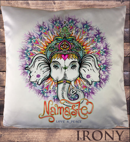 Ganesh Chakra Elephant God Line Art Namaste Zen India Aztec Print Cushion Cover CUS802