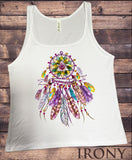 Jersey Top Dreamcatcher Tribal Red Indian Native American Feathers JTK1164