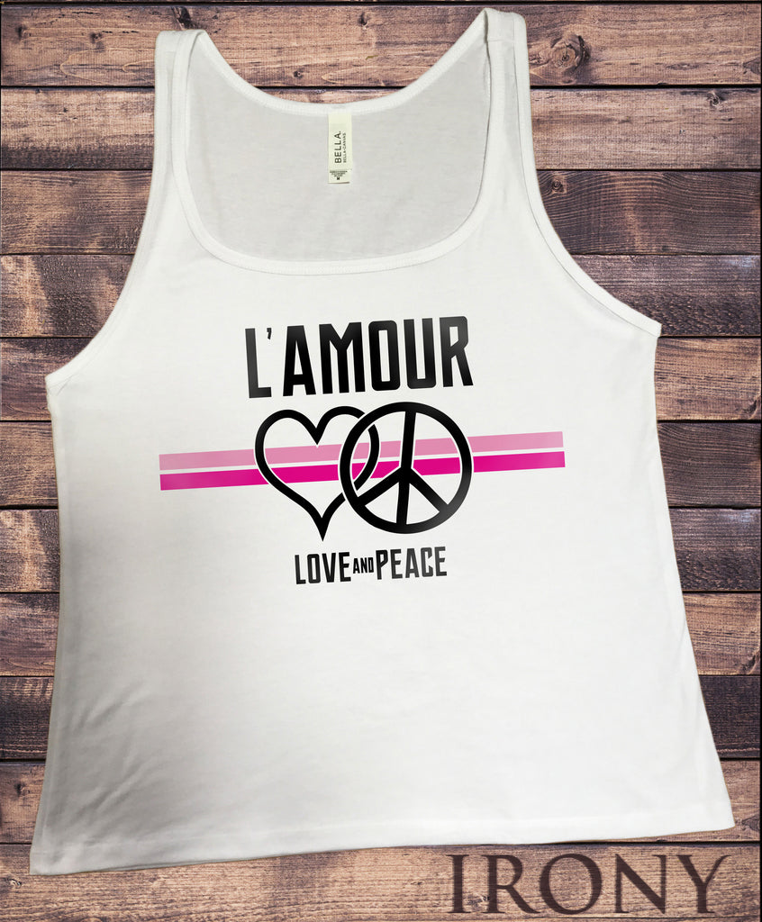 Jersey Top L'amour Love and  Heart Colourful Print JTK1271