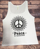 "Jersey Top ""Peace is beautiful"" Flowery distort CND Peace Print JTK1299"