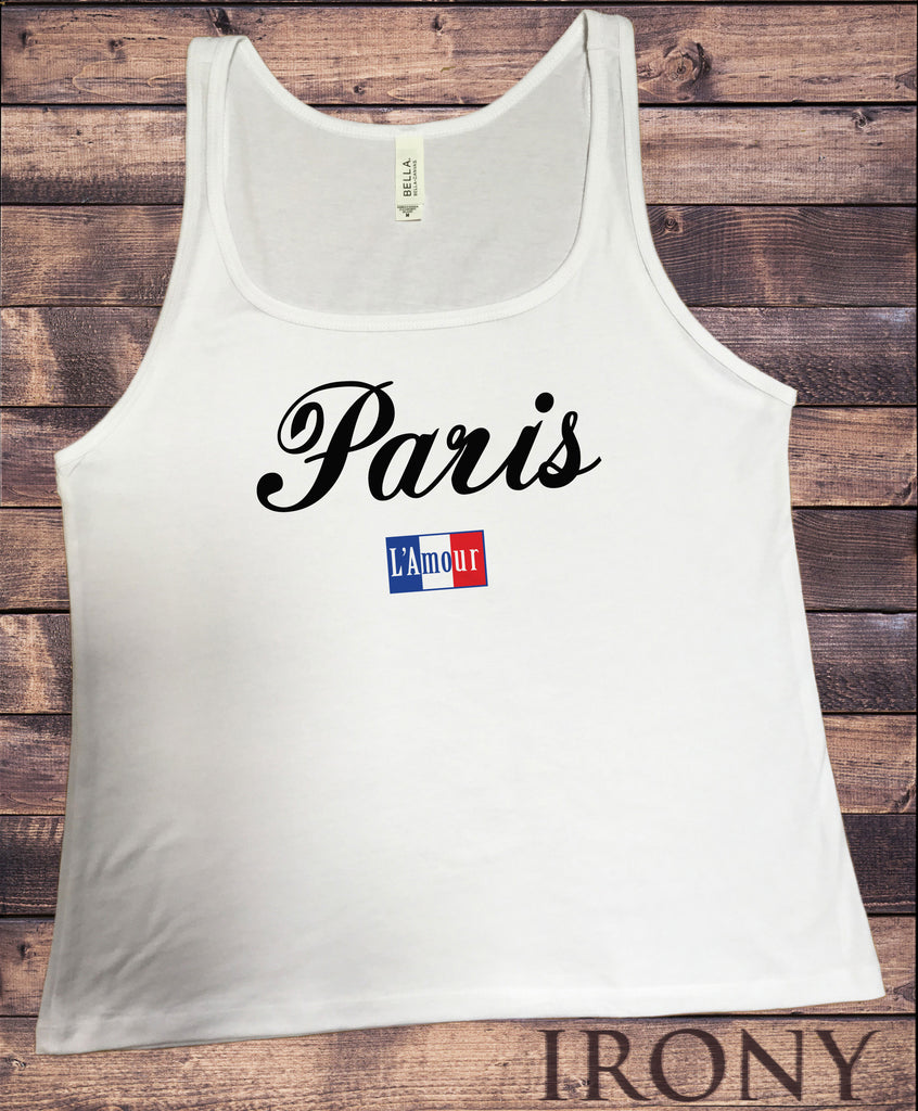 Jersey Top Paris slogan L'Amour France Print JTK1405