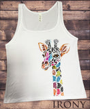 Jersey Top With Giraffe Colourful Ethnic Print JTK1437