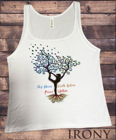 Jersey Tank Top Yoga Meditation India zen yoga Tree Print JTK1618