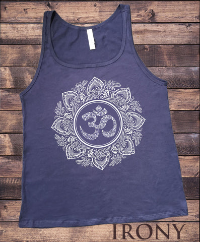 Jersey Tank Om God Line Art Namaste Peace Ethnic Zen India JTK1657