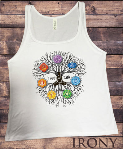 Jersey Tank Top 'Tree Of Life' Buddha Yoga Meditation Chakra Symbols zen Tree JTK1736