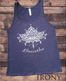 Jersey Tank top 'Breathe' Ethnic Aztec Design India Print JTK1890