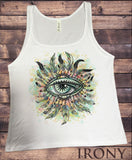 Jersey Tank Top Red Indian Native Eye American Feathers- Eye Iconic Culture Novelty JTK900
