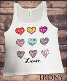 Jersey Top Love Hearts- 9 different heart emotions Print JTK938