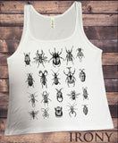Jersey Tank Creepy Crawlers- Insects All Over- Flies Bugs Print JTK950