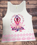 Jersey Tank Top Buddha 'Be The Change You Wish To See' Zen Hobo Print JTK965