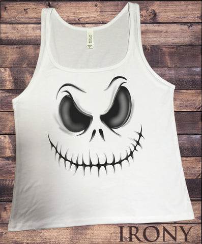 Jersey Tank Top Halloween Scary Costume Skull Pumpkin Face Dead JTK971