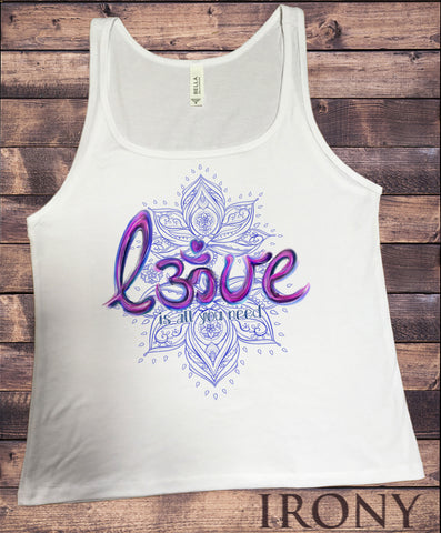 Jersey Tank Lotus 'Love is all you need' Flowery OM Love- India Print JTK972
