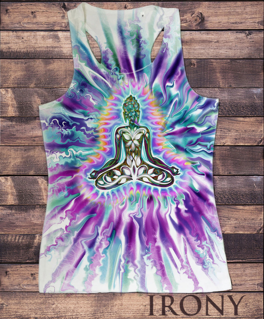 Women's Vest Top, Yoga Buddha Meditation Spiritual Zen Purple Sublimation Print SUB1228