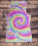 Women's Vest Top, Colourful Owl detailed splatter icon - Novelty Print SUB1180