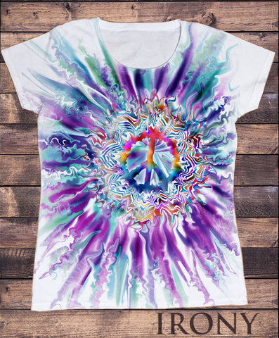Women's Top Peace CND Paintbrush- Colourful Sublimation Print SUB1305