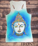 Women's Vest Buddha Airbrsh effect Print Sublimation SUB1612