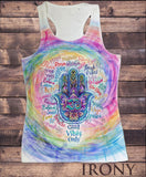 Women's Vest Top, Positive Slogans Hamsa Hand Fatima Sublimation Print SUB889