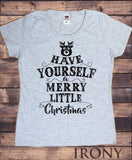 Women's Christmas Xmas 'Have Yourself a Merry Little Christmas' Reindeer Novelty Print TS1033