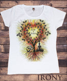 Women's T-Shirt 'Love & Peace' Buddha Yoga Meditation Om India zen OM Tree Heart TS1071