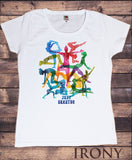 Women's Tee 'Just Breathe' Yoga Meditation Poses Print TS1094