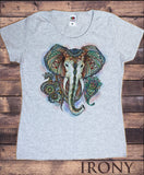 Women's T-Shirt Elephant Ganesh Ethnic Pattern Brushed Effect Aztec TS1107