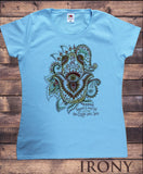 Women's Top Om India zen Positive Slogan Hamsa Hand Of Fatima Print TS1119