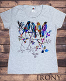 Women's Top Beautiful Colourful Exotic Birds 'Love' Print TS1123