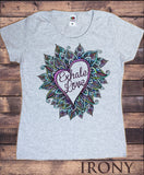 Women's Top 'Exhale Love' Colourful Flower Love Heart Yoga Print TS1195