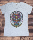 Women's Tee Colourful Owl Abstract-Exotic Pattern Print TS1196